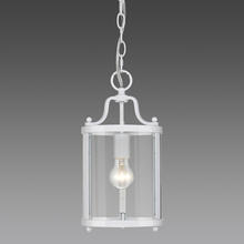 Golden Canada 1157-M1L WH - Payton Mini Pendant in White with Clear Glass