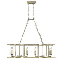 Golden Canada 7151-LP WG - Bellare 8 Light Linear Pendant in White Gold