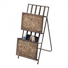 Sterling Industries 129-1027 - Embossed Metal Magazine Rack